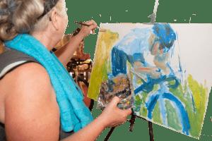 ans in actie wielrenner schilderen