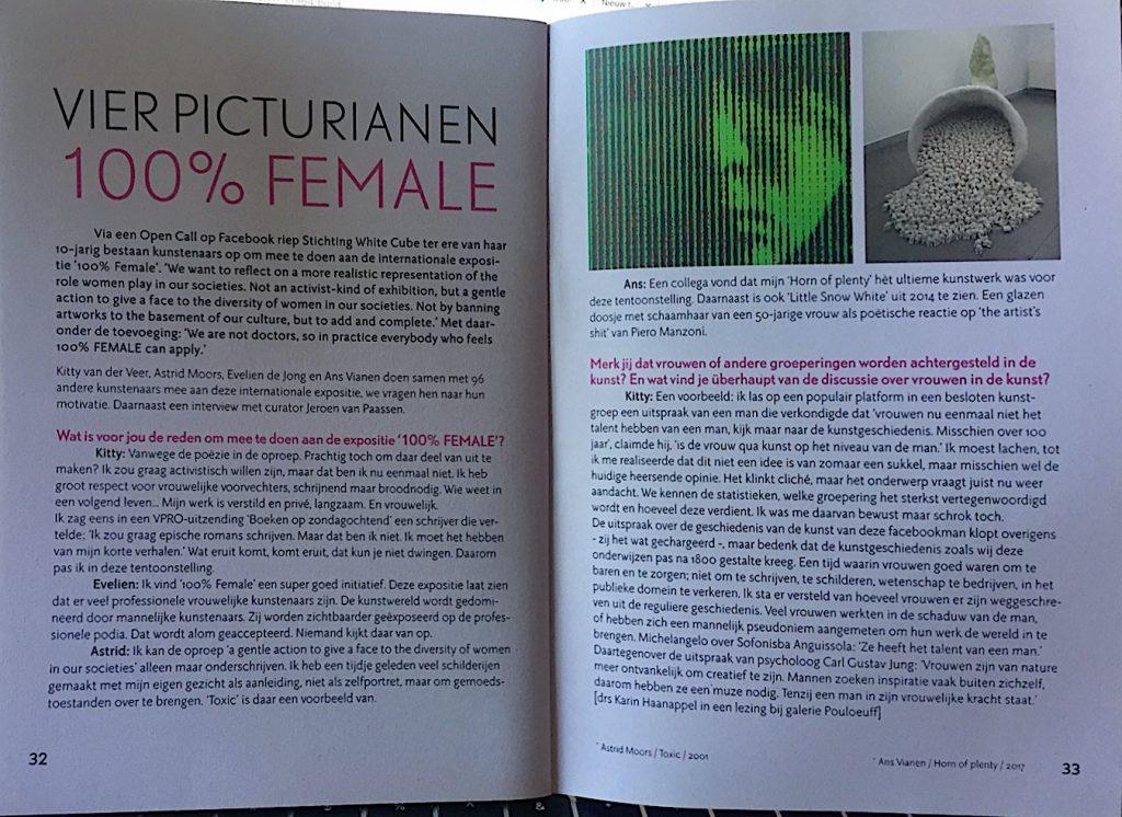 artikel 100% female in pictura magazine JPG